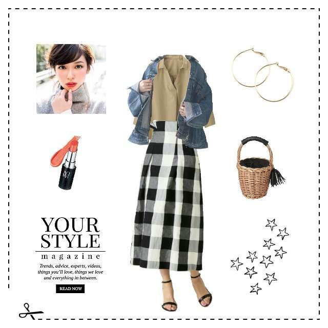 「カジュアル、おでかけ」に関するGUのシャツ/ブラウス、IENAのタイトスカート等を使ったコーデ画像