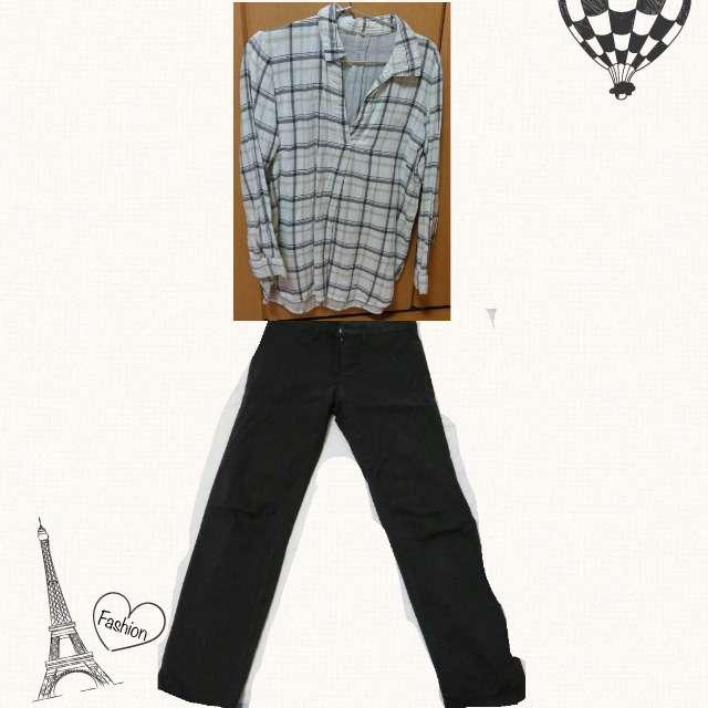 「シンプル、休日」に関するMUJIのシャツ/ブラウス、LEPSIMのチノパン等を使ったコーデ画像