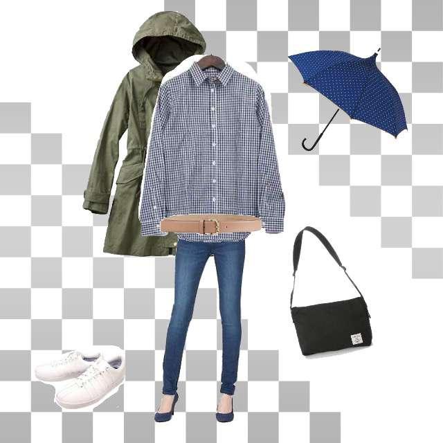 しまむらのシャツ/ブラウス、GUのスキニーパンツ等を使ったコーデ画像
