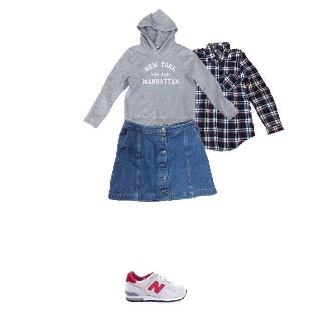 INGNIのシャツ/ブラウス、HONEYSのパーカー/スウェット等を使ったコーデ画像