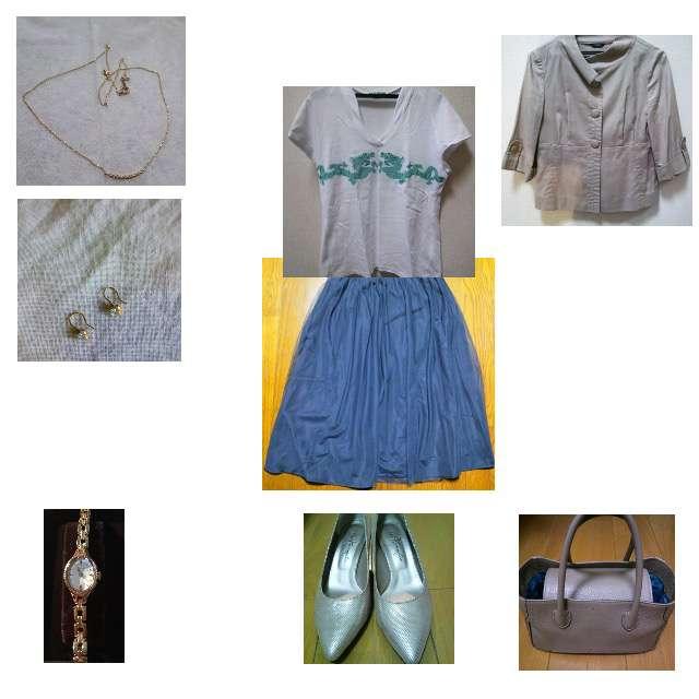 VIVIENNE TAMのTシャツ/カットソー、anySiSのスカート等を使ったコーデ画像
