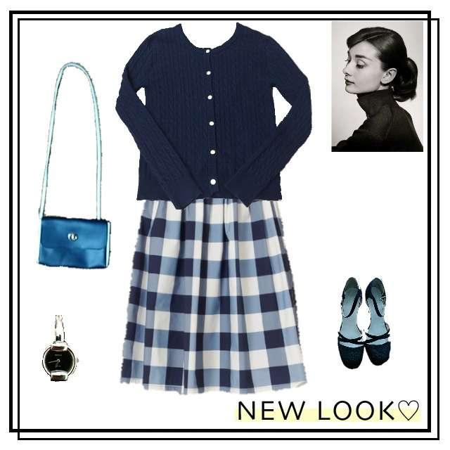 「ガーリー・フェミニン、デート」に関するしまむらのカーディガン、F i.n.tのひざ丈スカート等を使ったコーデ画像