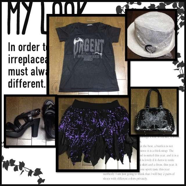 GHOST OF HARLEMのTシャツ/カットソー、ミニスカート等を使ったコーデ画像