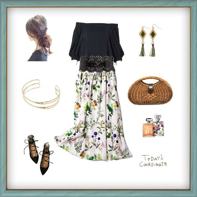 「コンサバ・エレガント、おでかけ」に関するROPE' PICNICのシャツ/ブラウス、allurevilleのマキシ丈スカート等を使ったコーデ画像