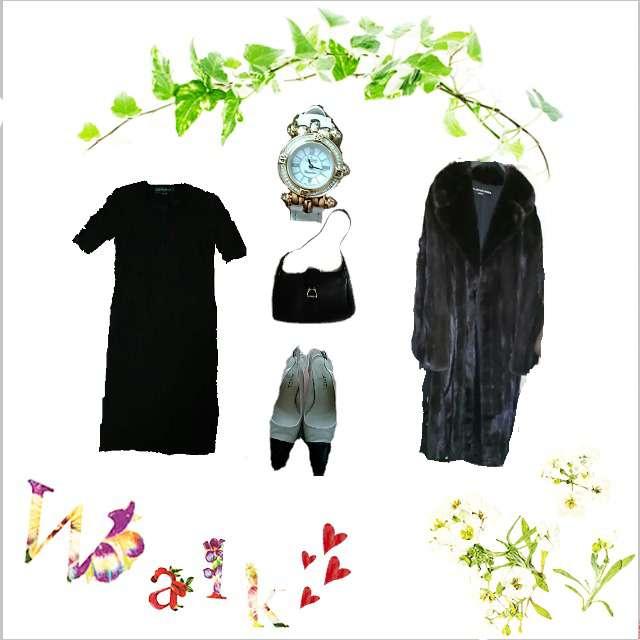 「セレブリティ、ディナー」に関するCARVENのスーツ、BALENCIAGAのファーコート等を使ったコーデ画像
