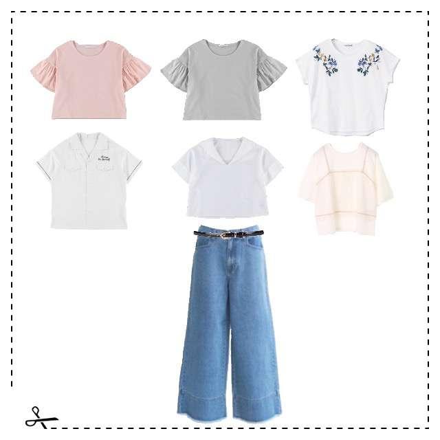ehka sopoのTシャツ/カットソー、Ehyphen world galleryのTシャツ/カットソー等を使ったコーデ画像