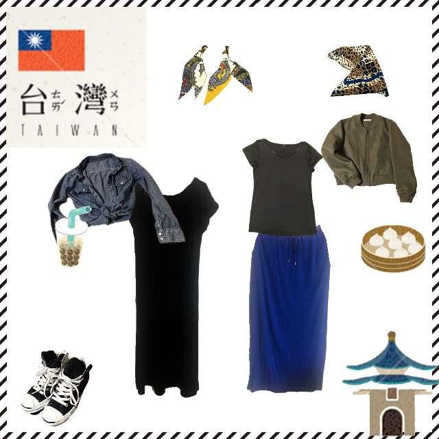 「カジュアル、旅行、台湾、9月、10月」に関するシャツ/ブラウス、Ray BEAMSのTシャツ/カットソー等を使ったコーデ画像