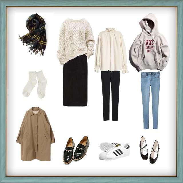 FREAK'S STOREのパーカー/スウェット、H&Mのシャツ/ブラウス等を使ったコーデ画像