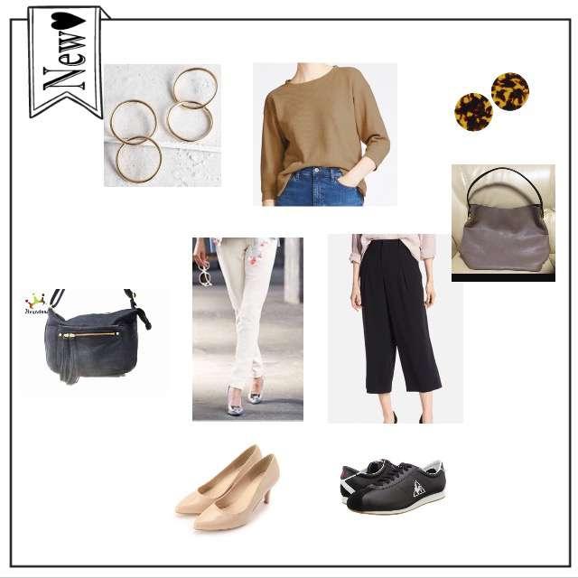 「シンプル、オフィス」に関するAG by aquagirlのパンツ、UNIQLOのワイドパンツ等を使ったコーデ画像