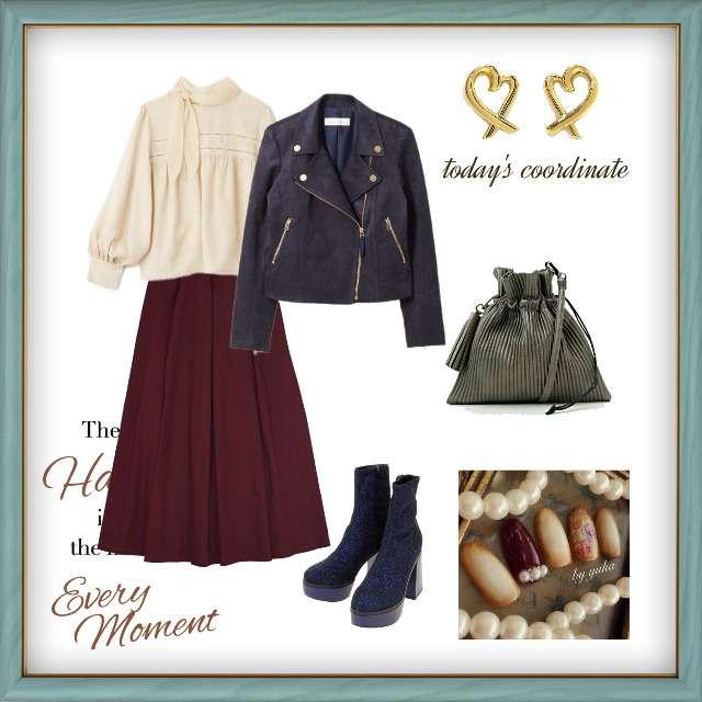 「カジュアル、休日」に関するSupreme LaLaのシャツ/ブラウス、merlotのマキシ丈スカート等を使ったコーデ画像