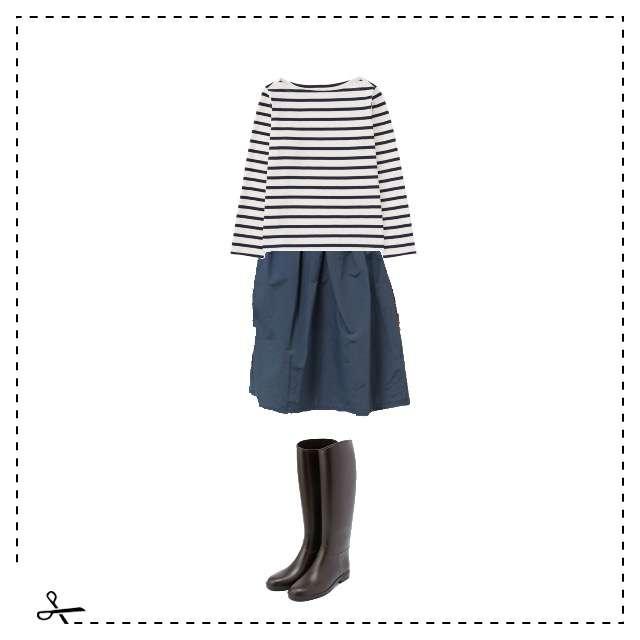 UNIQLOのTシャツ/カットソー、COLLAGE GALLARDAGALANTEのスカート等を使ったコーデ画像