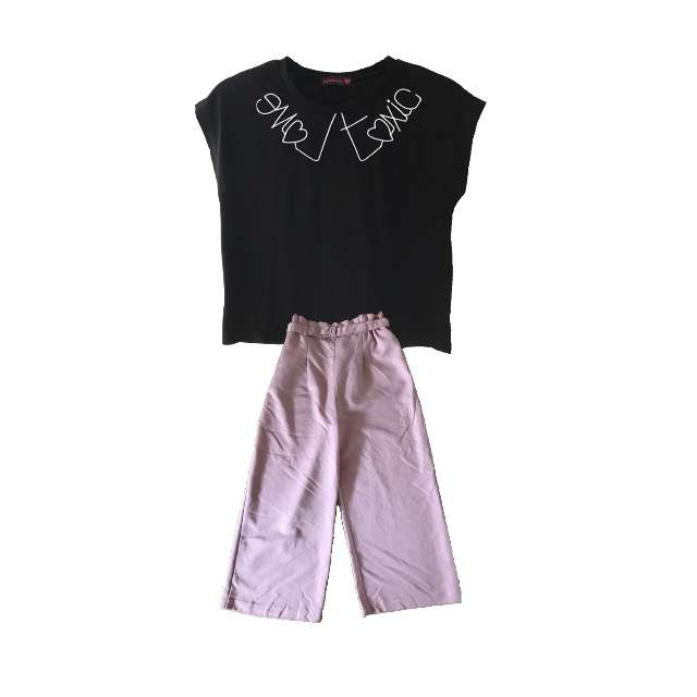「塾」に関するLovetoxicのTシャツ/カットソー、WEGOのガウチョパンツ等を使ったコーデ画像