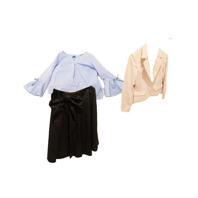 シャツ/ブラウス、スカート等を使ったコーデ画像