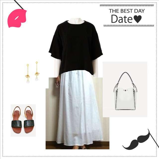 「休日」に関するFIFTHのシャツ/ブラウス、UNIQLOのマキシ丈スカート等を使ったコーデ画像