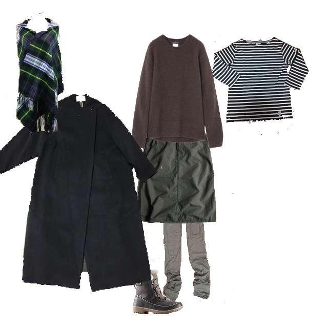 STUNNING LUREのニット/セーター、OrcivalのTシャツ/カットソー等を使ったコーデ画像