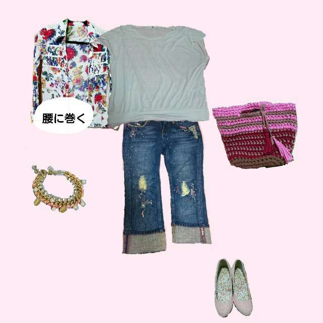 「カジュアル」に関するシャツ/ブラウス、UNIQLOのTシャツ/カットソー等を使ったコーデ画像