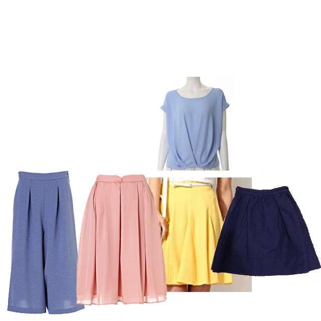Clear Impressionのシャツ/ブラウス、PROPORTION BODY DRESSINGのフレアスカート等を使ったコーデ画像