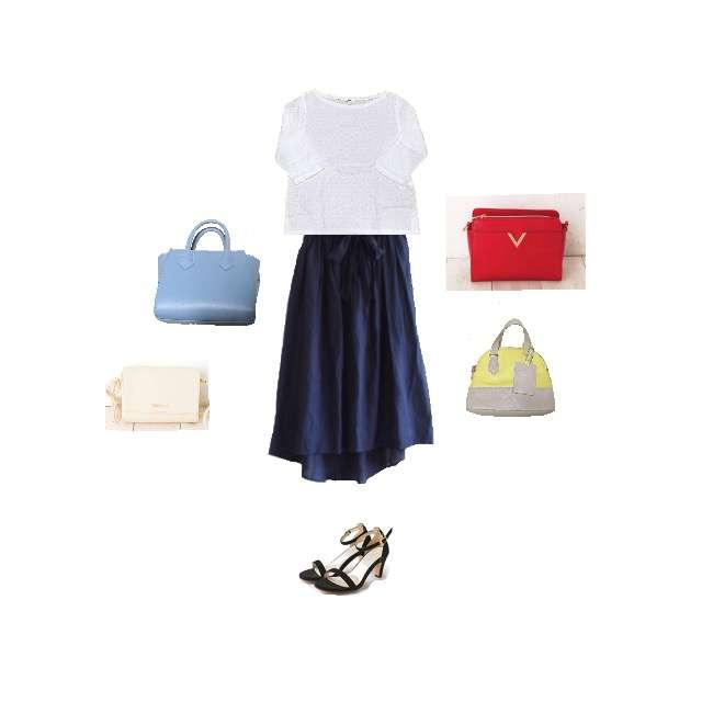 UNIQLOのシャツ/ブラウス、しまむらのミモレ丈スカート等を使ったコーデ画像