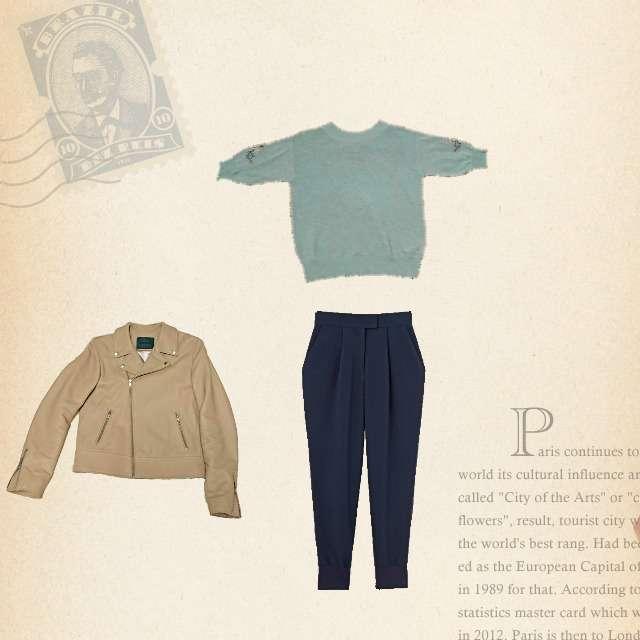 「きれいめカジュアル」に関するViSのニット/セーター、STYLE DELIのパンツ等を使ったコーデ画像