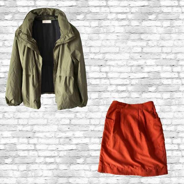 any SiSのパーカー/スウェット、mysiticのタイトスカート等を使ったコーデ画像