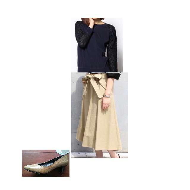 allurevilleのパーカー/スウェット、Nobleのマキシ丈スカート等を使ったコーデ画像