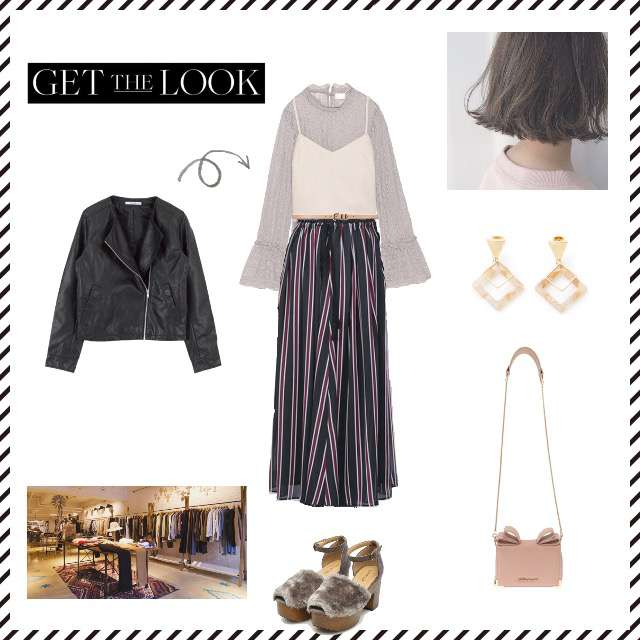 「モード・ハイエンド、買い物、甘辛ミックス」に関するLily BrownのTシャツ/カットソー、nano・universeのマキシ丈スカート等を使ったコーデ画像