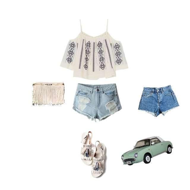 MERCURYDUOのシャツ/ブラウス、moussyのショートパンツ等を使ったコーデ画像