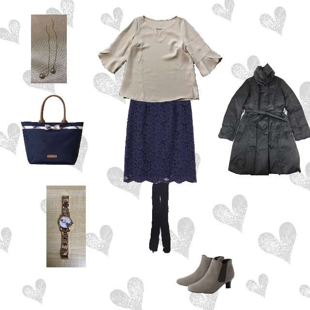 Apuweiser-richeのシャツ/ブラウス、PROPORTION BODY DRESSINGのひざ丈スカート等を使ったコーデ画像
