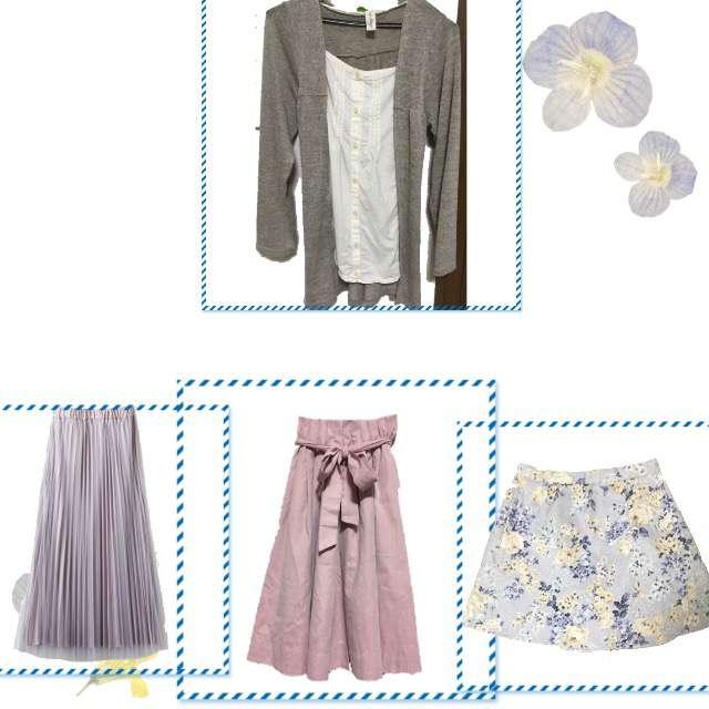 Tシャツ/カットソー、スカパン等を使ったコーデ画像