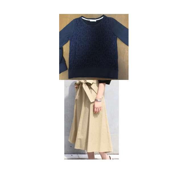 パーカー/スウェット、Nobleのマキシ丈スカート等を使ったコーデ画像