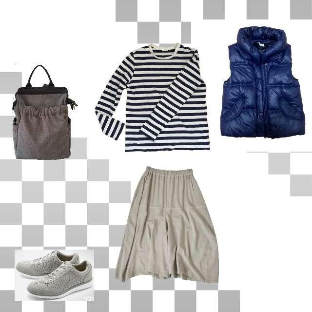 「カジュアル、お散歩、休日」に関するBalcony & Bedのベスト、DES PRESのTシャツ/カットソー等を使ったコーデ画像