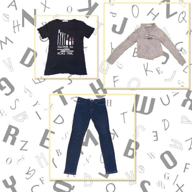 「キレカジ」に関するSPIRALGIRLのTシャツ/カットソー、LOWRYS FARMのデニムパンツ等を使ったコーデ画像