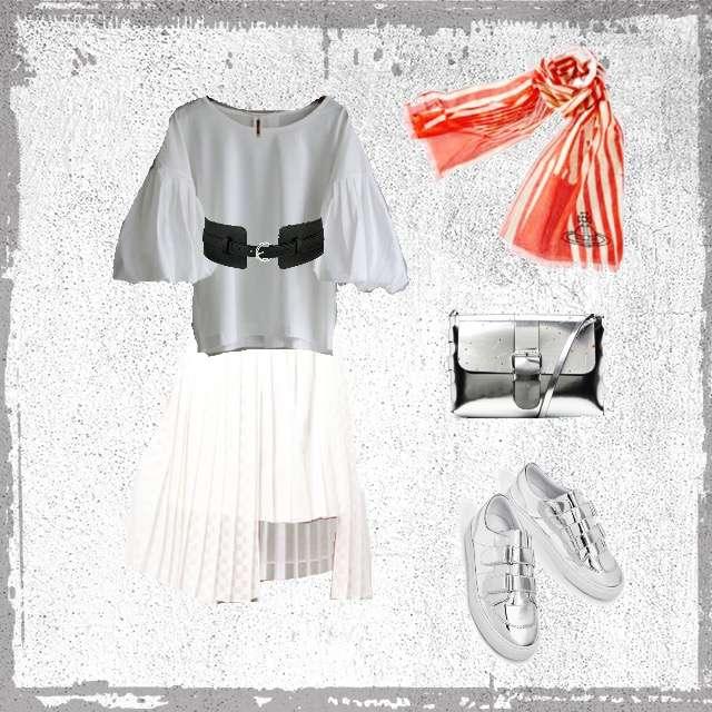 laboratory workのシャツ/ブラウス、ミモレ丈スカート等を使ったコーデ画像