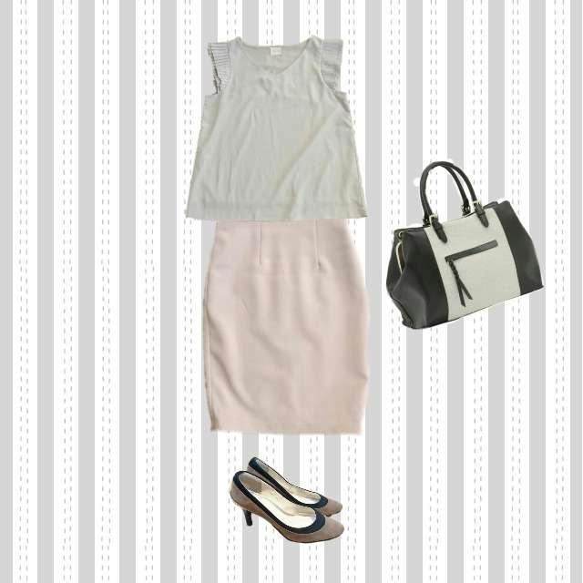Liala×PGのシャツ/ブラウス、dholicのミモレ丈スカート等を使ったコーデ画像