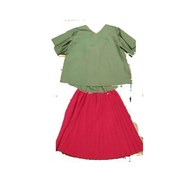 earth music&ecologyのシャツ/ブラウス、プリーツスカート等を使ったコーデ画像