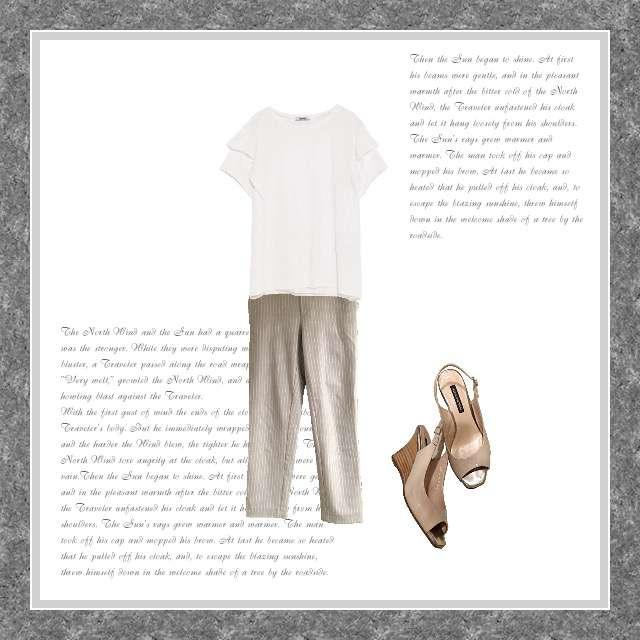 「シンプル、オフィス」に関するZARAのTシャツ/カットソー、ZARAのクロップドパンツ等を使ったコーデ画像