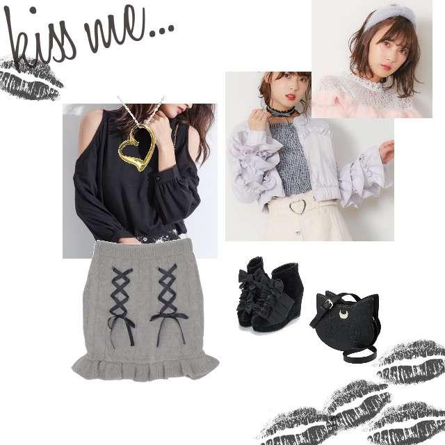 FIFTHのシャツ/ブラウス、EATMEのミニスカート等を使ったコーデ画像