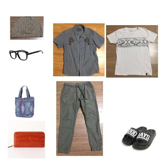 BAYFLOWのTシャツ/カットソー、BAYFLOWのシャツ/ブラウス等を使ったコーデ画像