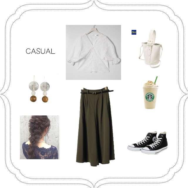 EMSEXCITEのシャツ/ブラウス、RETRO GIRLのワイドパンツ等を使ったコーデ画像