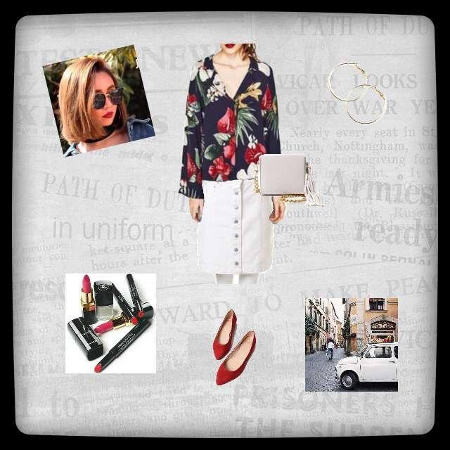 「カジュアル、おでかけ」に関するZARAのシャツ/ブラウス、INGNIのデニムスカート等を使ったコーデ画像