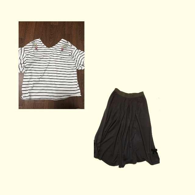 INGNIのTシャツ/カットソー、ガウチョパンツ等を使ったコーデ画像