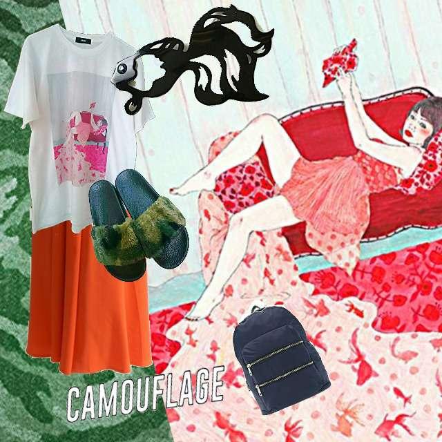 「カジュアル、通勤コーデ、リアルクローゼット」に関するDAMMYのTシャツ/カットソー、WEGOのスカパン等を使ったコーデ画像