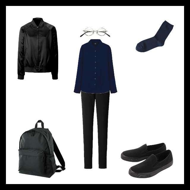 「シンプル」に関するUNIQLOのシャツ/ブラウス、UNIQLOのスキニーパンツ等を使ったコーデ画像