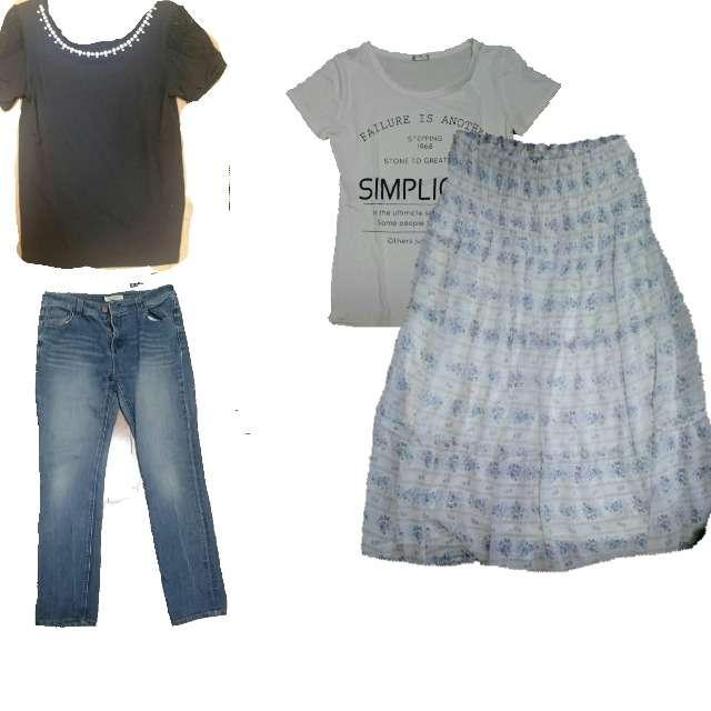 Tシャツ/カットソー、しまむらのTシャツ/カットソー等を使ったコーデ画像