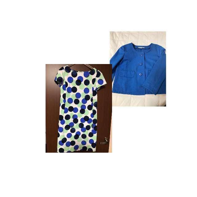 MISS Jのワンピース、JUNKO SHIMADAのノーカラージャケット等を使ったコーデ画像
