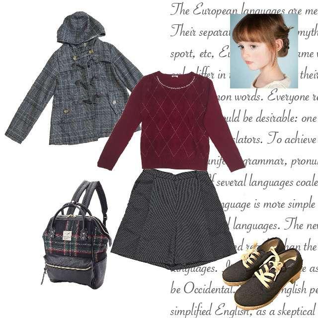 「ガーリー・フェミニン、女子会」に関するHONEYSのニット/セーター、GUのパンツ等を使ったコーデ画像