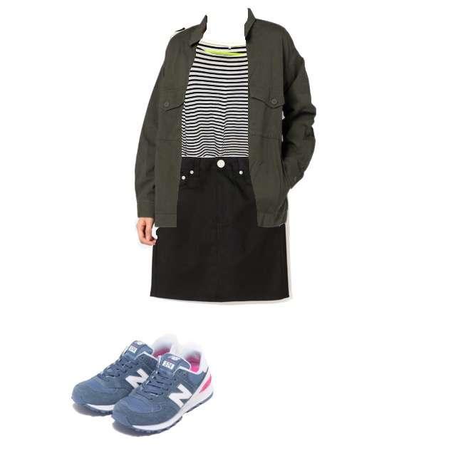 HONEYSのシャツ/ブラウス、GRLのタイトスカート等を使ったコーデ画像