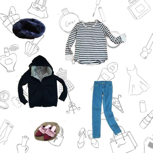 「カジュアル」に関するUNIQLOのパーカー/スウェット、ikkaのTシャツ/カットソー等を使ったコーデ画像