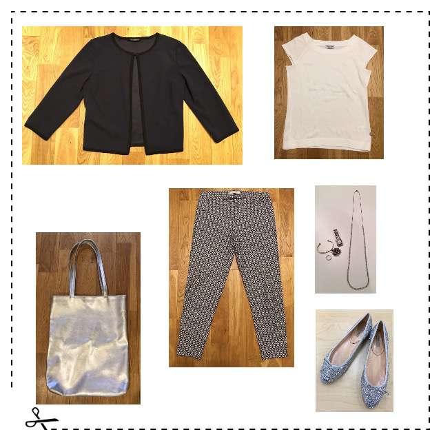 「シンプル、オフィス、アラフィフ」に関するニット/セーター、ALPHAのテーパードパンツ等を使ったコーデ画像