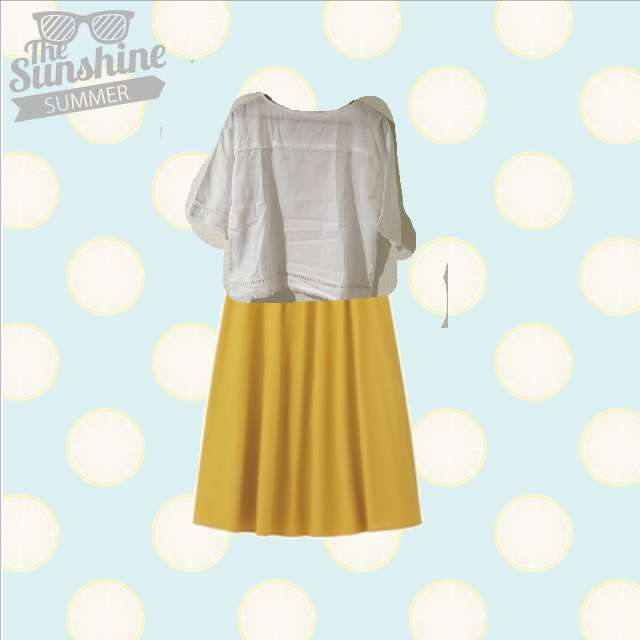 プルオーバー、GUのミモレ丈スカート等を使ったコーデ画像